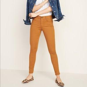 Old Navy Rockstar Super Skinny Jeans Mustard Yello